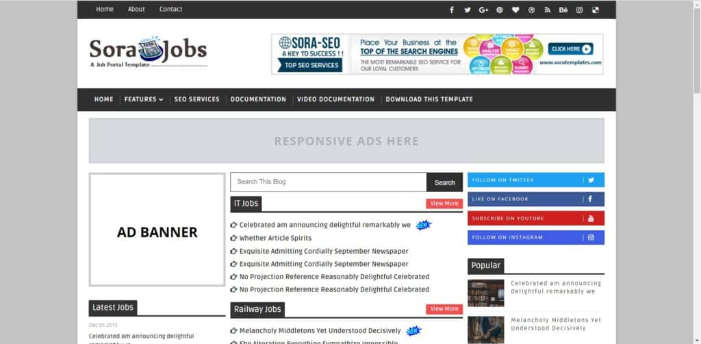 best job templates for blogger