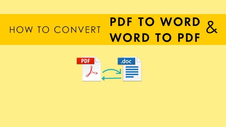 Convert PDF to Word or Word to PDF