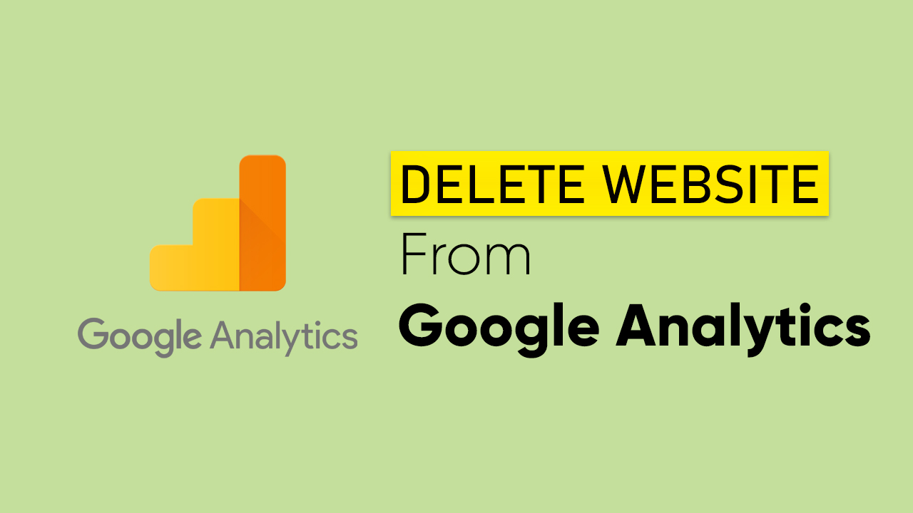 delete website from google analytics