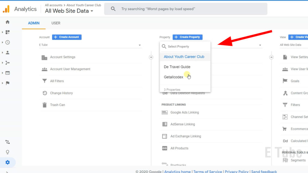 how to remove a website from google analytics